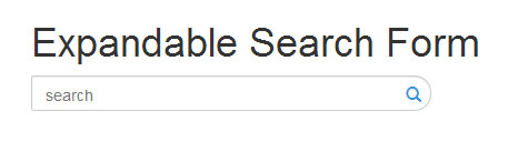 bootstrap expandable search box