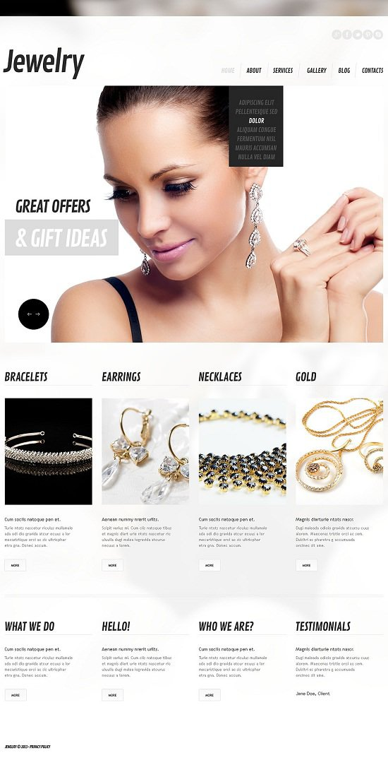 Best Jewelry Responsive WordPress