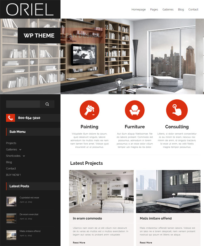 Best Responsive Interior WordPress Theme