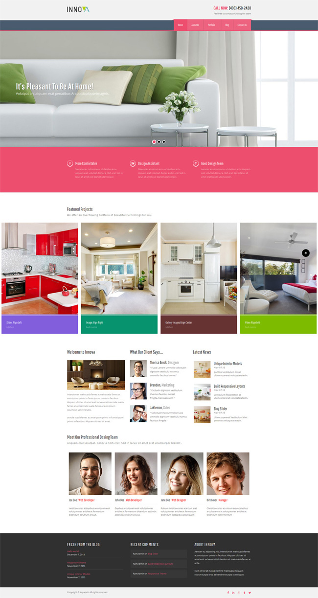 Best innova interior wordpress theme