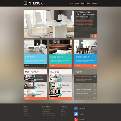 Best interior design wordpress theme 1