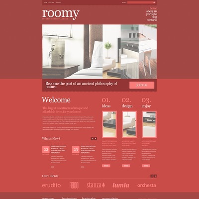 Best interior design wordpress theme 3