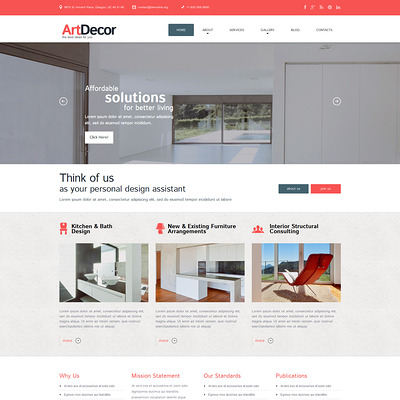 Best interior design wordpress theme b