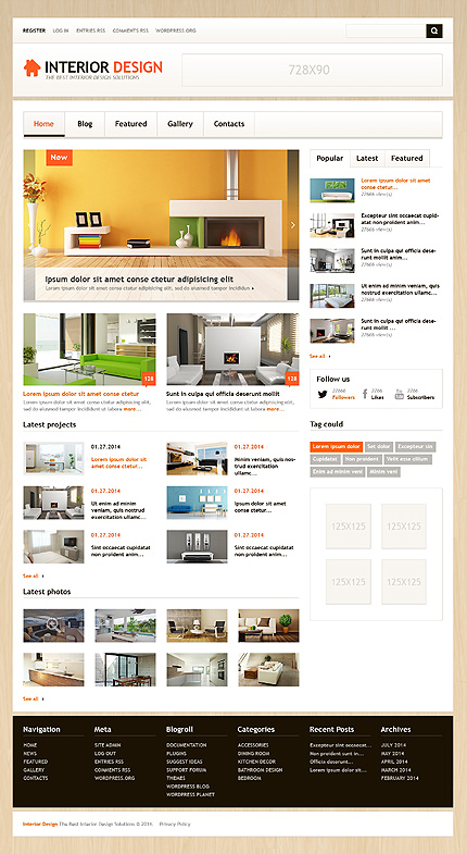 Best interior wordpress theme