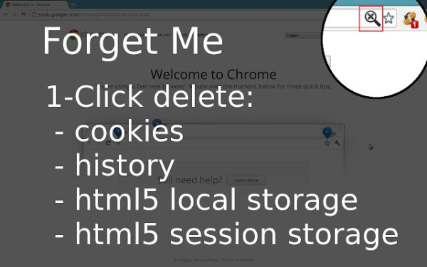 Google Forget Me Clean History chrome