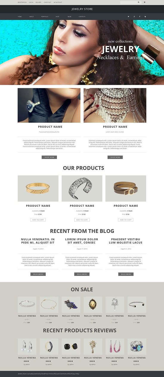 Jewelry WordPress Themes