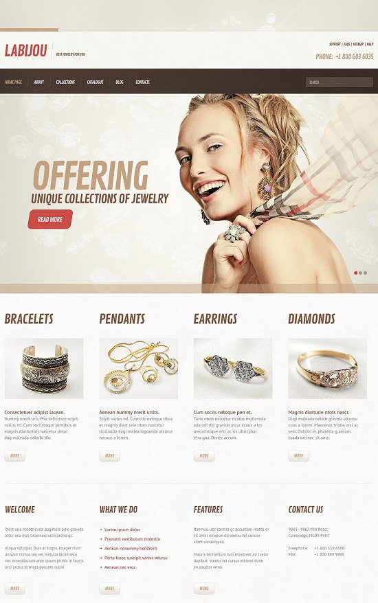 Jewelry theme Responsive download