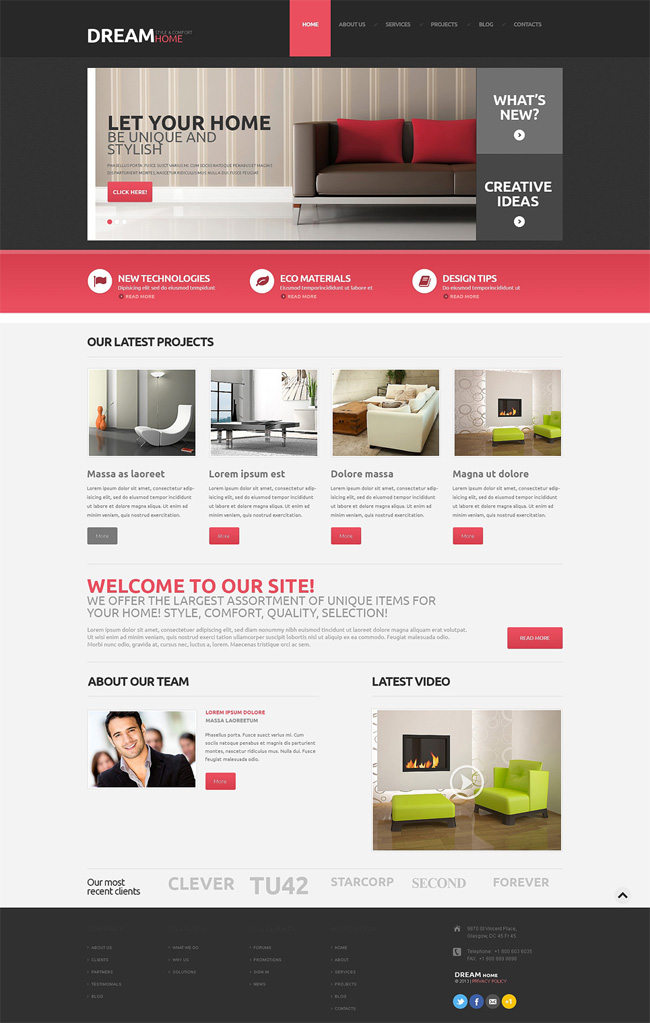 New House Interior Design WordPress Theme