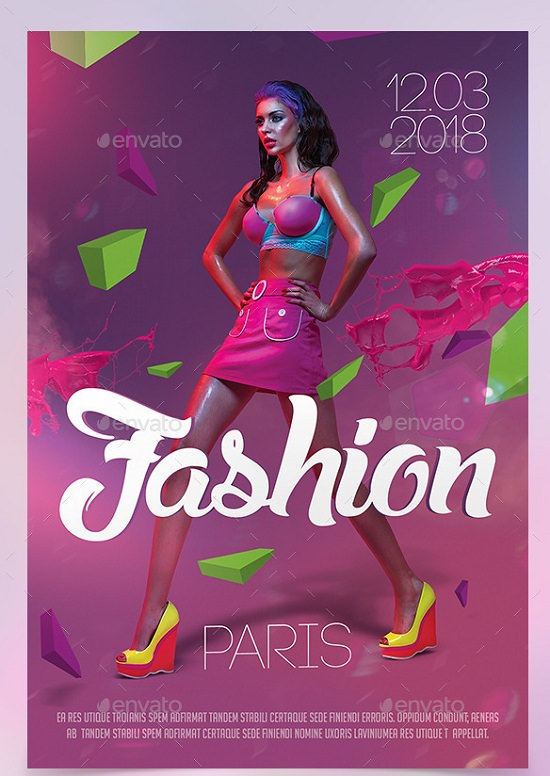 Paris Fashion Show Flyer Template
