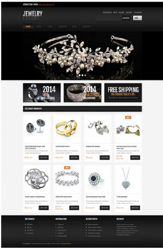 wordpress Jewlery theme