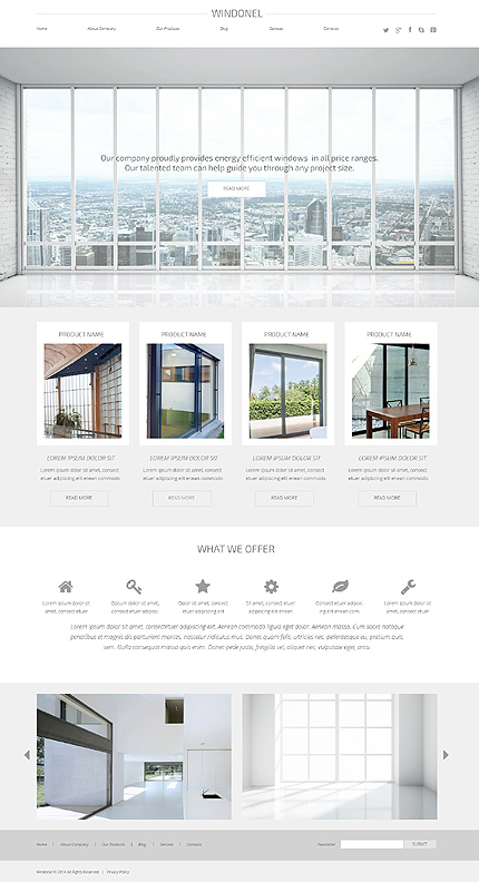 wordpress interior theme