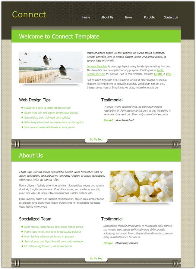 best-connect-dreamweaver-template