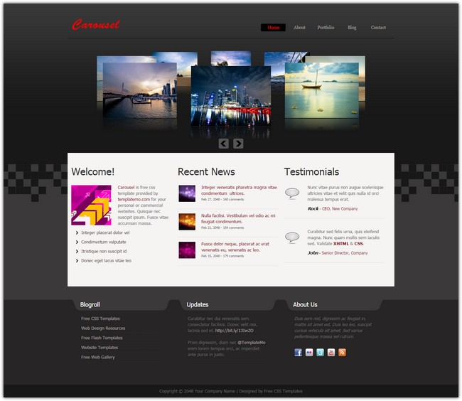 dreamweaver newsletter templates - carousel free dreamweaver template