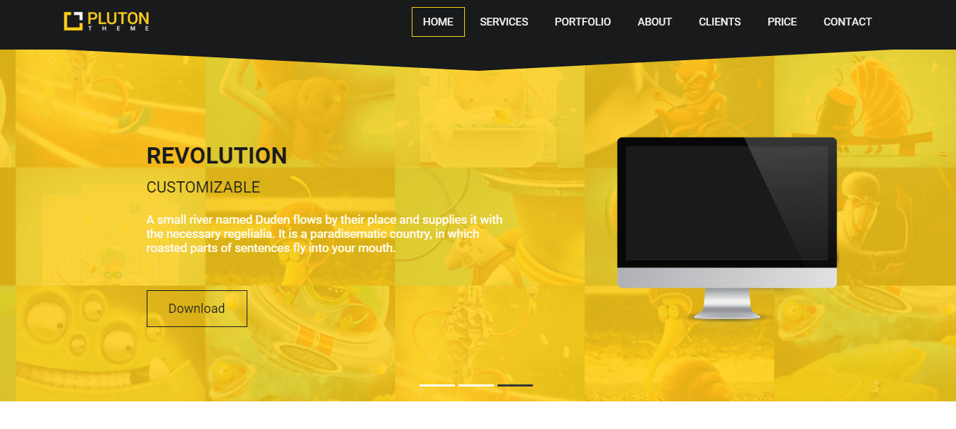 pluton free single page bootstrap html dreamweaver template