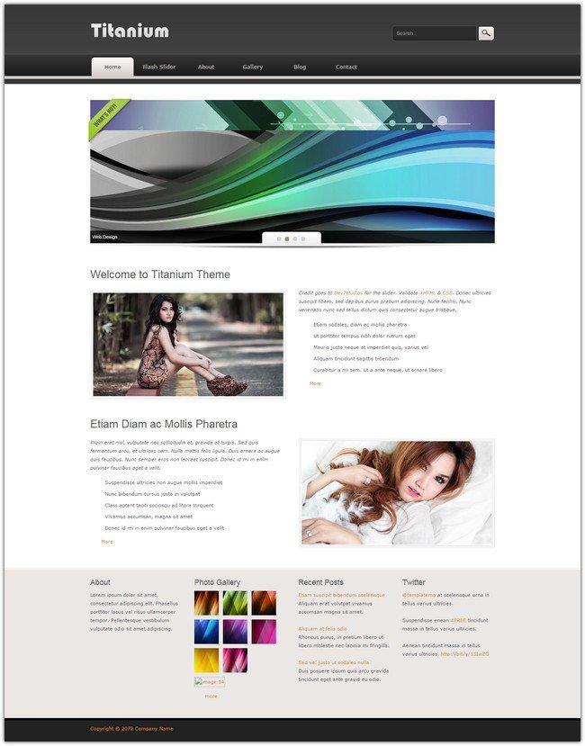 45 best free dreamweaver templates for Titanium app templates