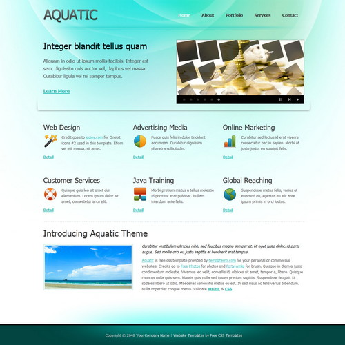 aquatic-dreamweaver-template