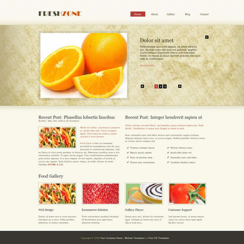 free dreamweaver website templates