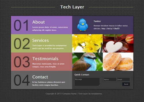 tech-layer-dreamweaver-template