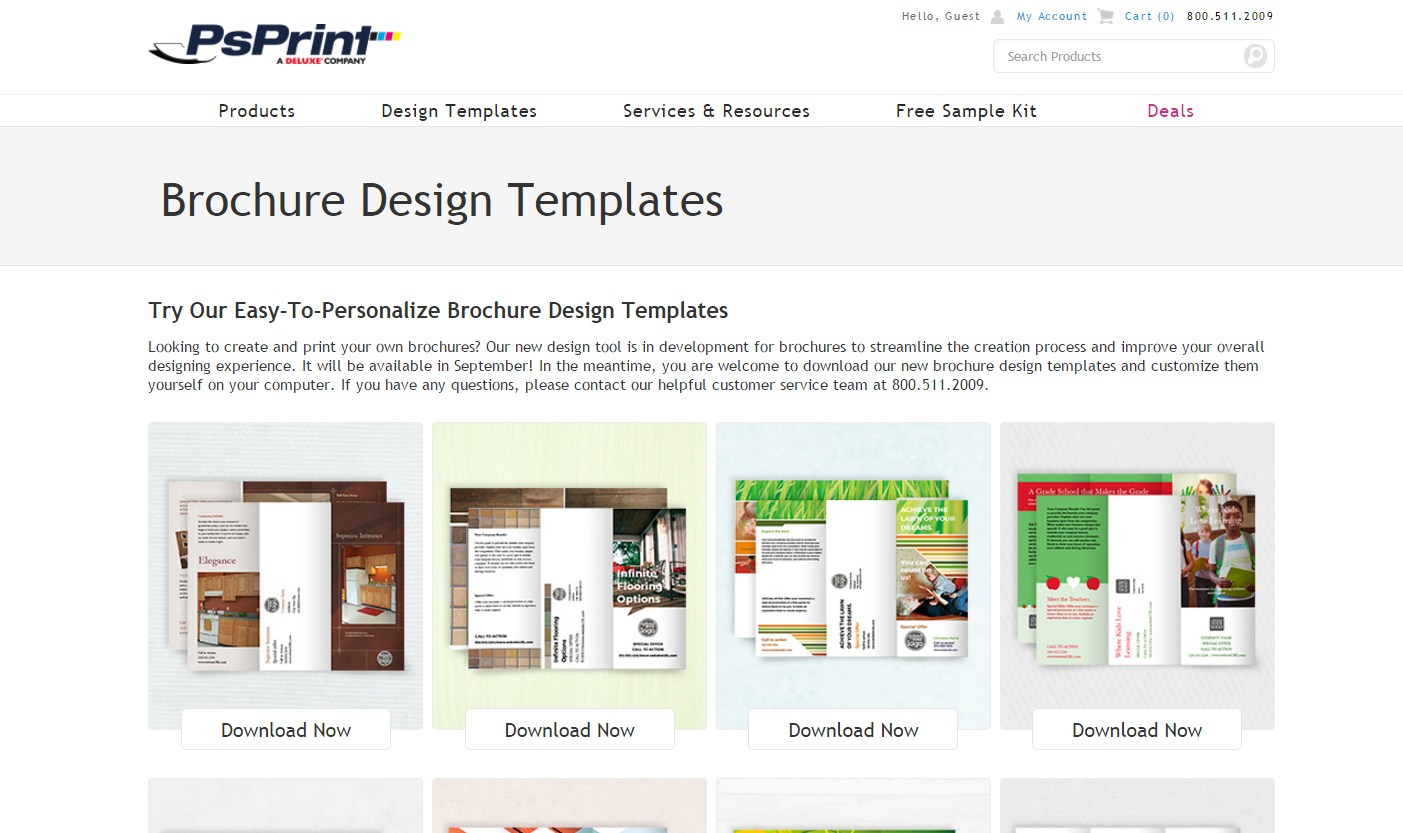 psprint brochure tool