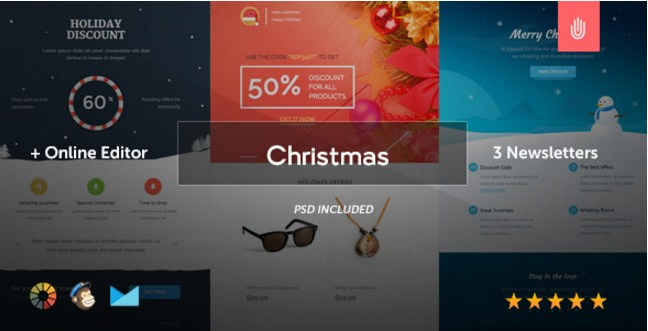 the christmas email template