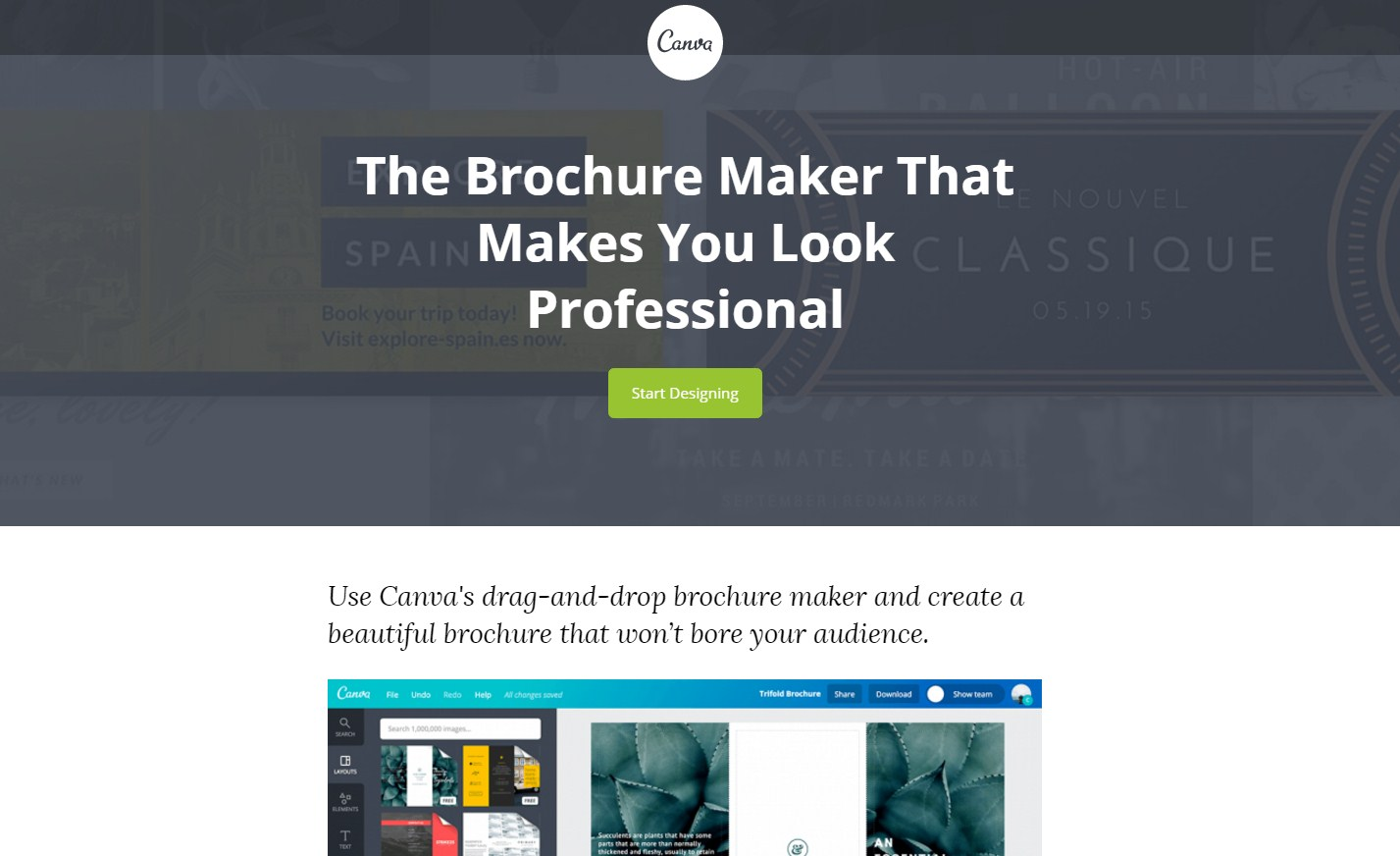 canva brochure tool