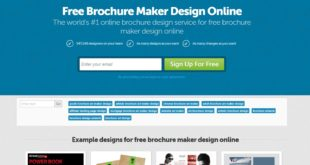 designcrowd brochure maker tool