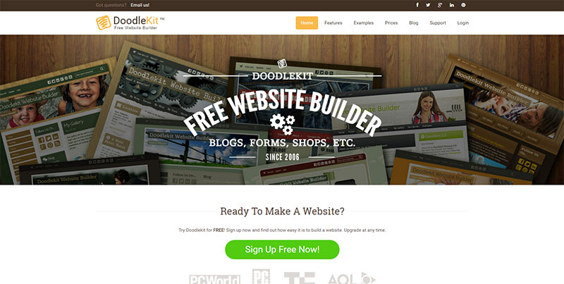 cabanovadoodlekit free website builder website builder