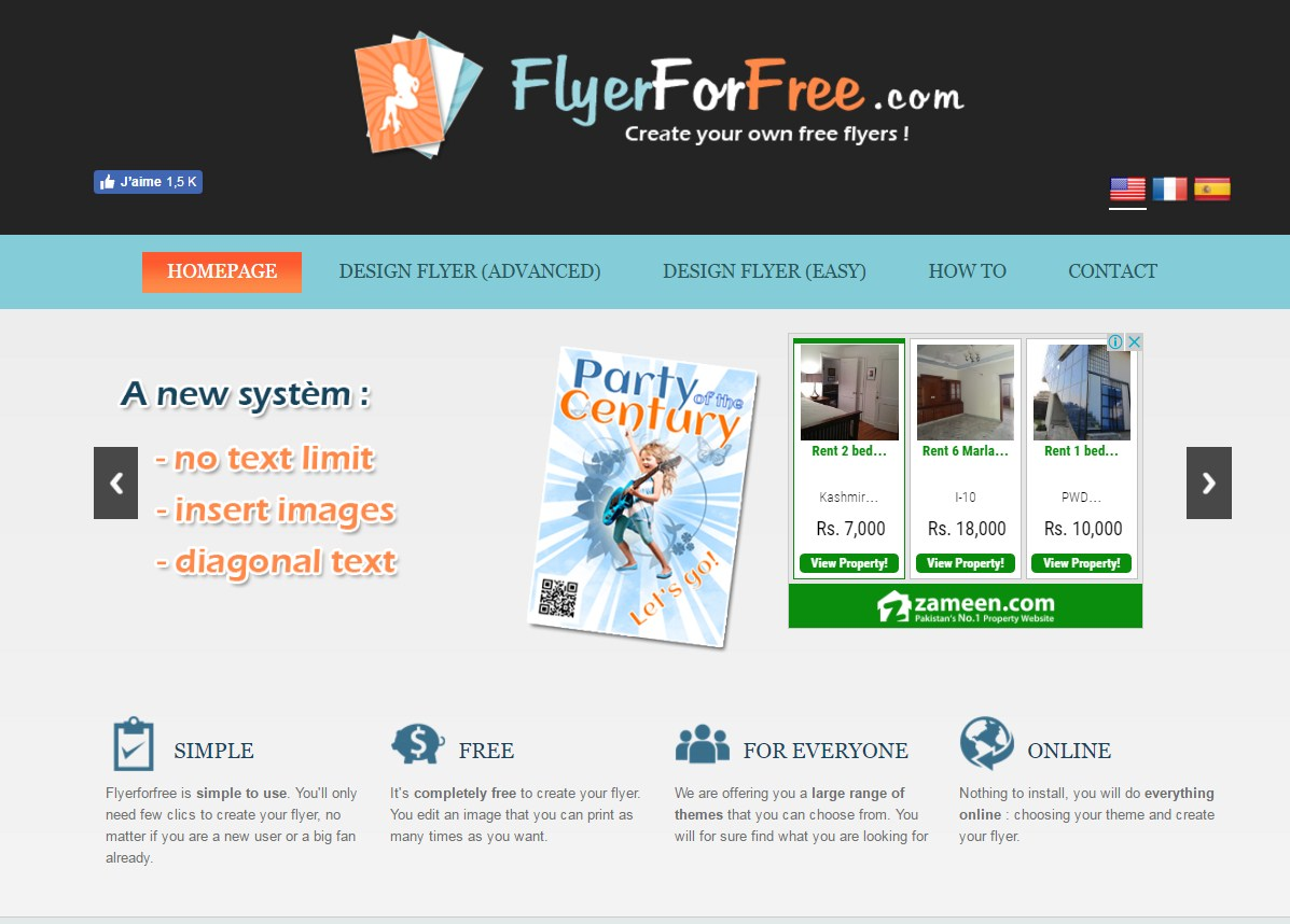 flyerforfree brochure maker