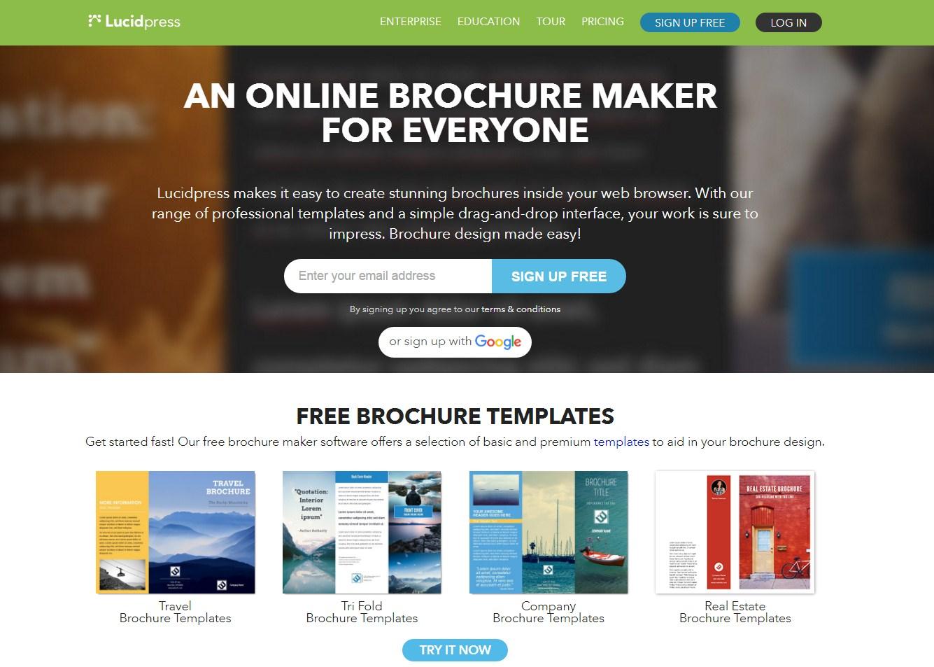 Brochure Creator Online Pasoevolistco - Online brochure templates