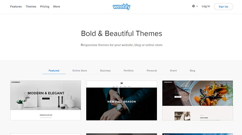 weebly free drag and drop