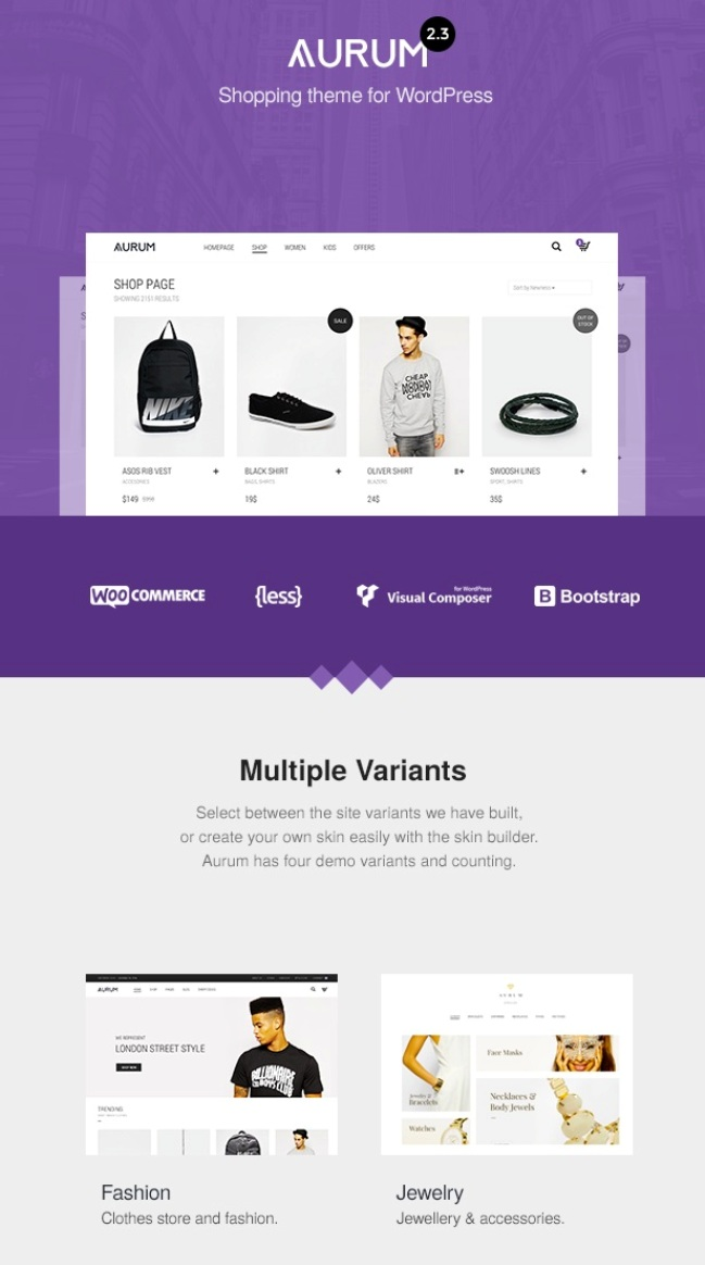 aurum woocommerce theme