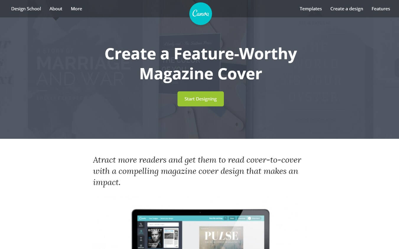 canva magazine cover maker