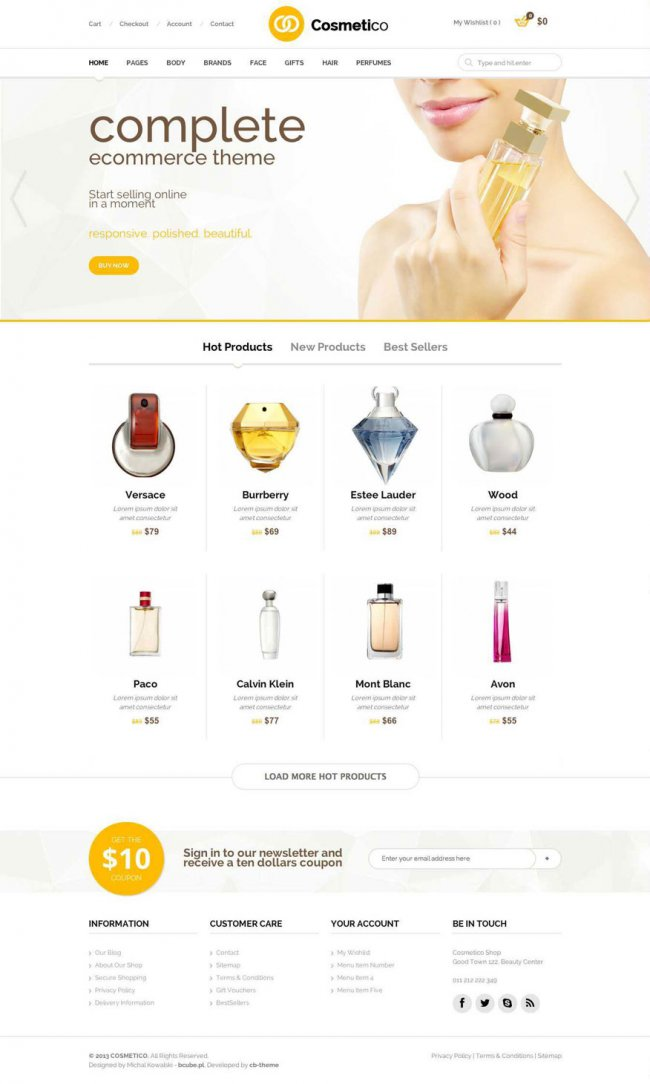 cosmetico wordpress woocommerce theme