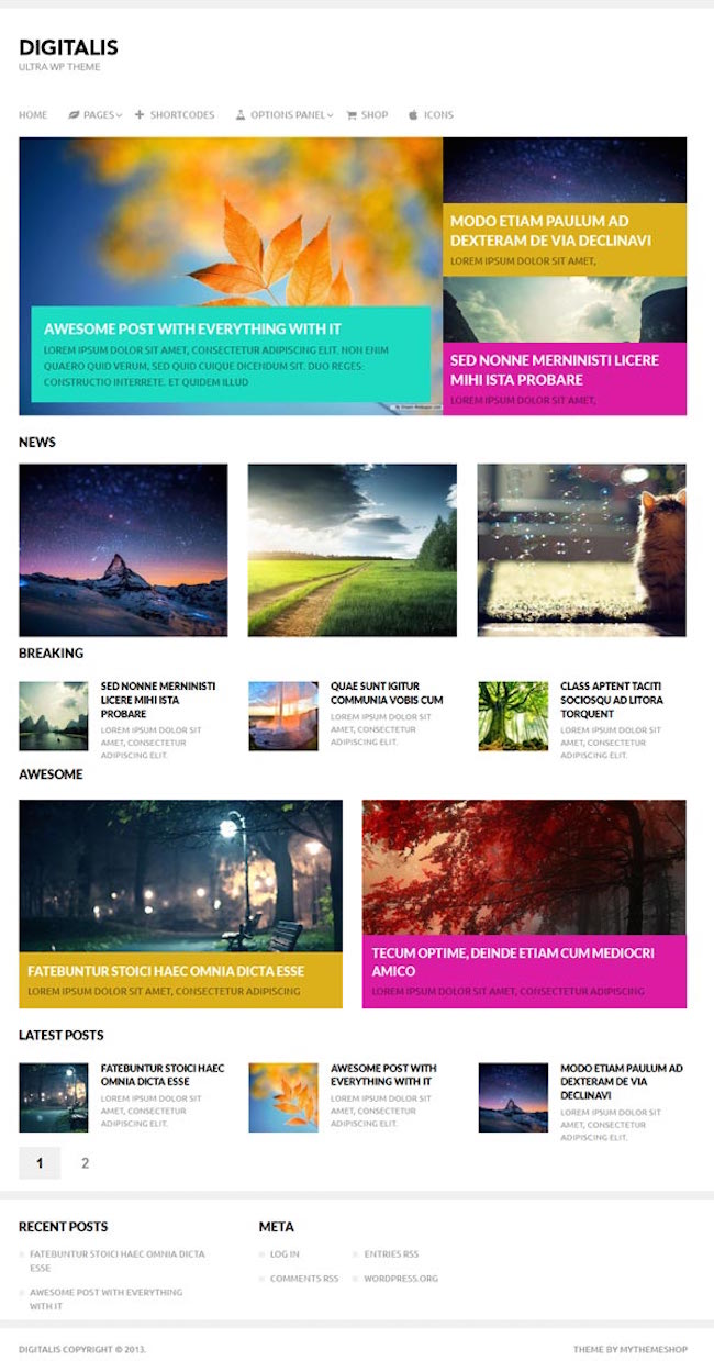 digitalis wordpress theme