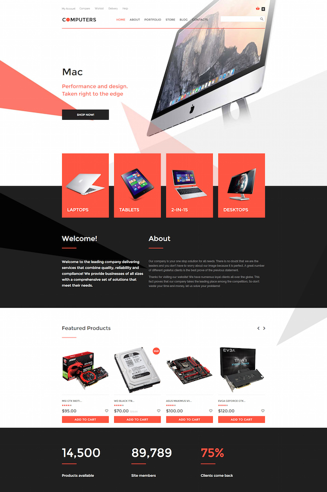 electronics wordpress woocommerce theme