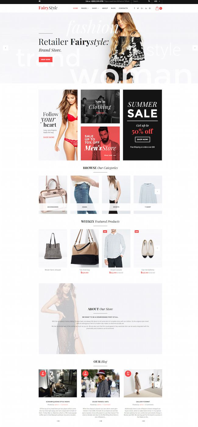 fairy style wordpress woocommerce theme
