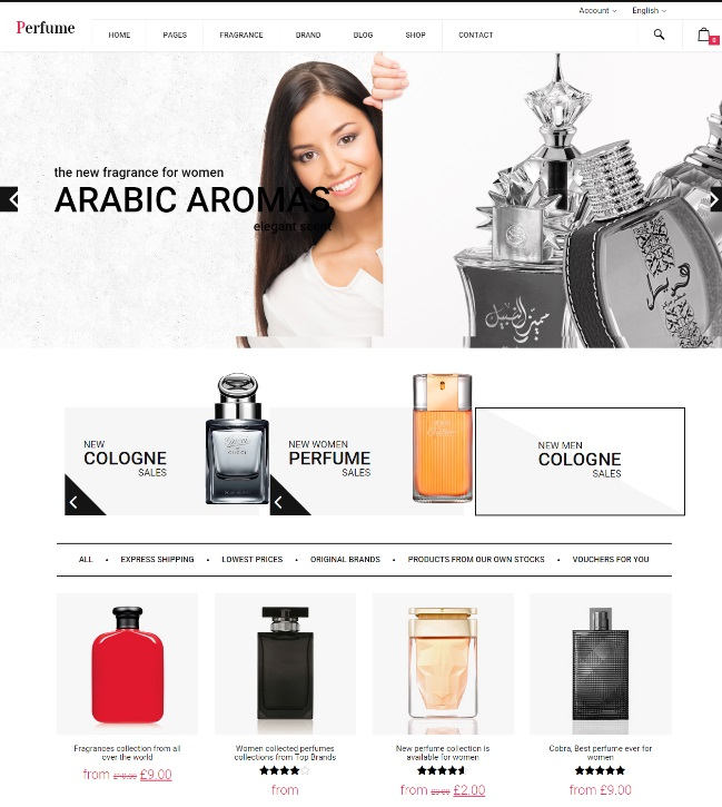 perfume woocommerce wp theme