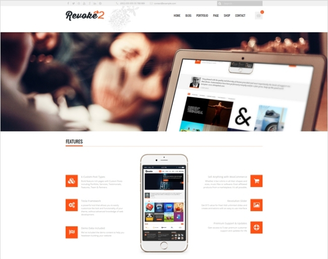 revoke2 woocommerce wp theme