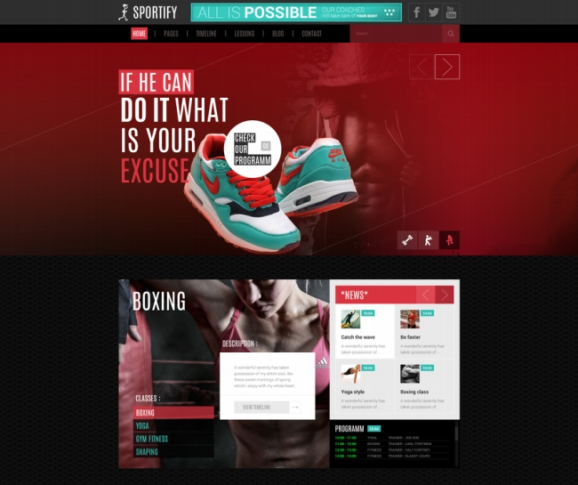 sportify wordpress themes