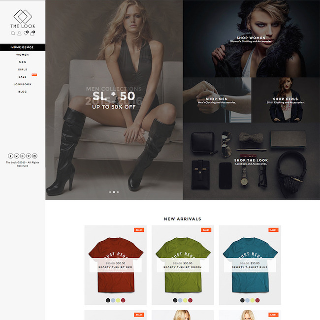 the look woocommerce themes
