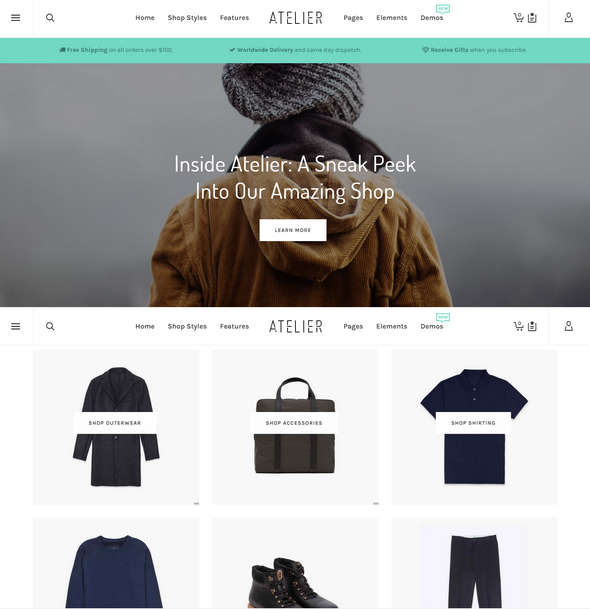 atelier wordpress woocommerce theme