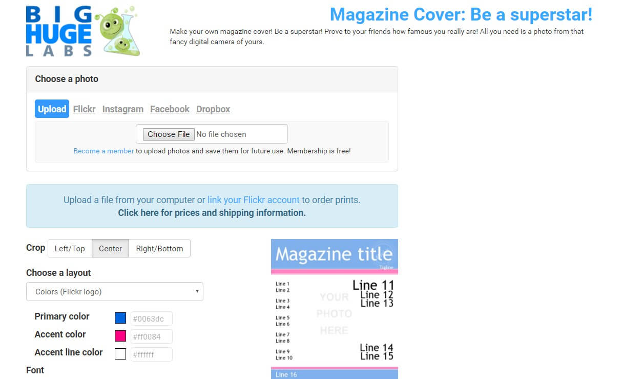 bighugelabs magazine cover maker