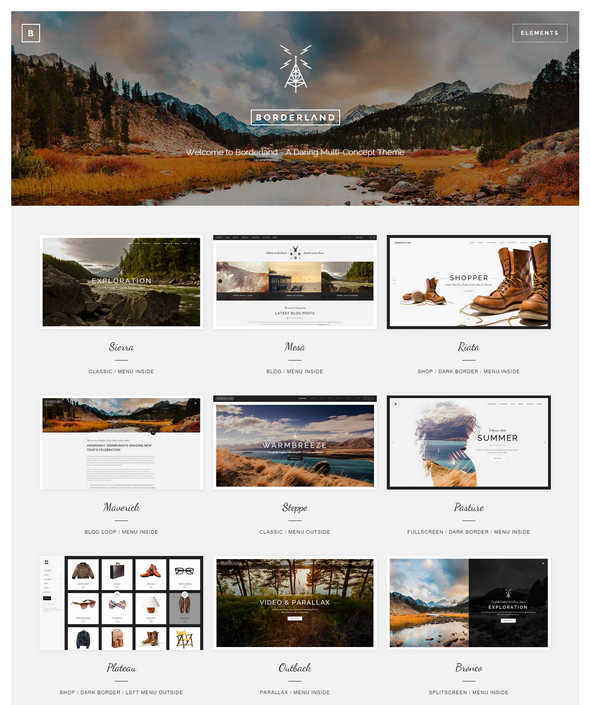 borderland wordpress shopping theme