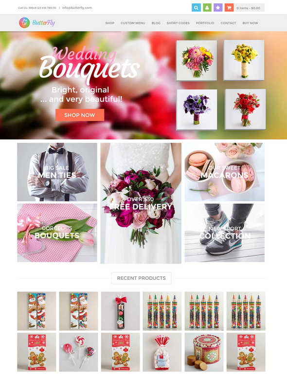 butterfly shopping wordpress theme