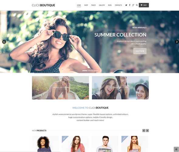 click boutique theme