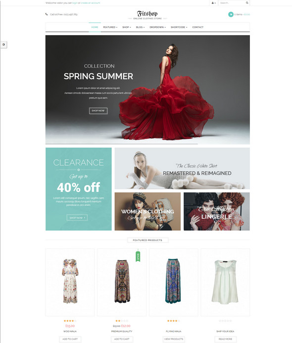 fitshop shopping theme