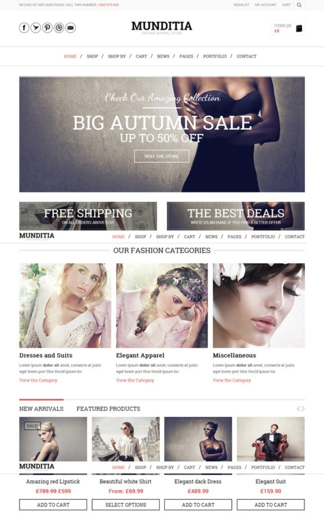 munditia woocommerce wp theme