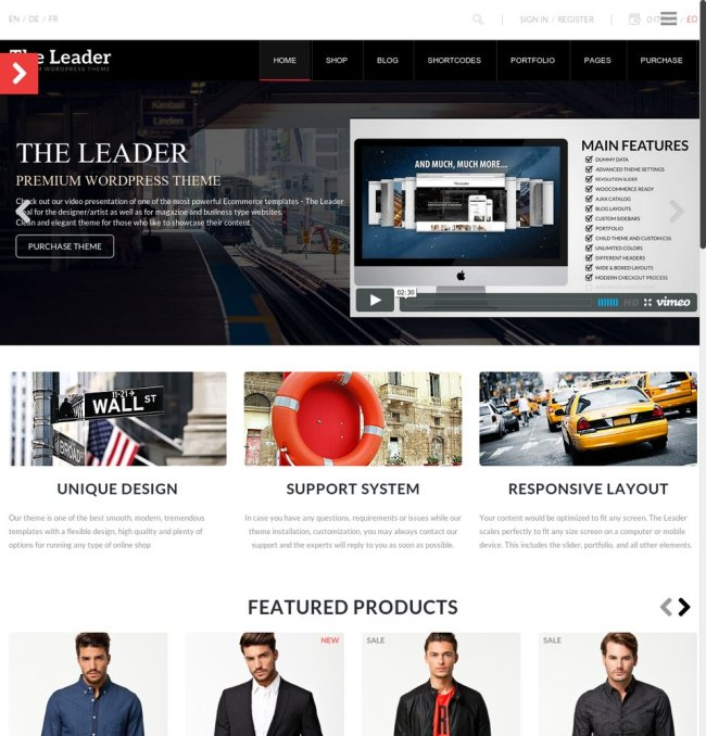 the leader woocommerce wp theme