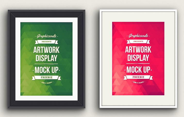 Artwork Display PSD Mockup