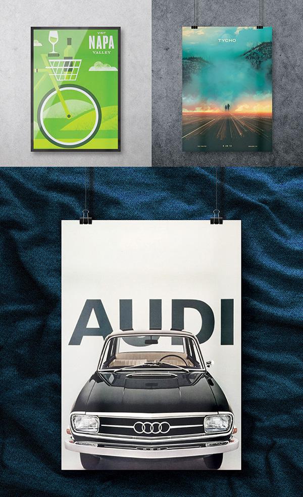 Audi Poster Mockup